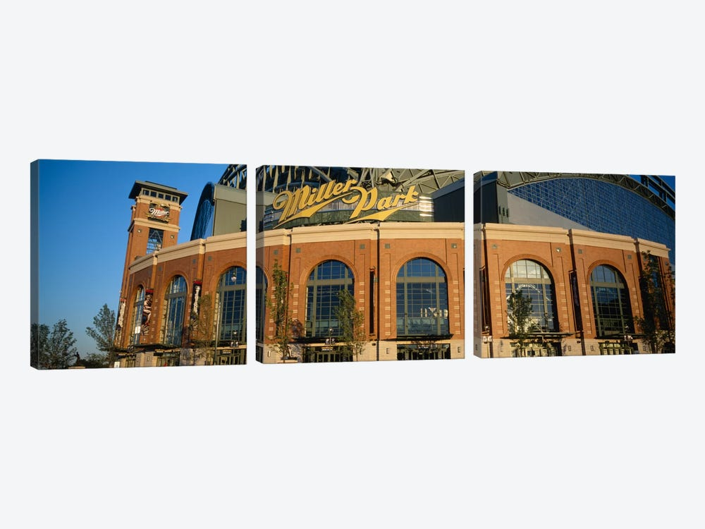 Miller Park In Zoom, Milwaukee, Wisconsin, USA by Panoramic Images 3-piece Canvas Art Print