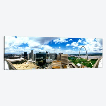 Buildings in a city, Gateway Arch, St. Louis, Missouri, USA Canvas Print #PIM1221} by Panoramic Images Art Print