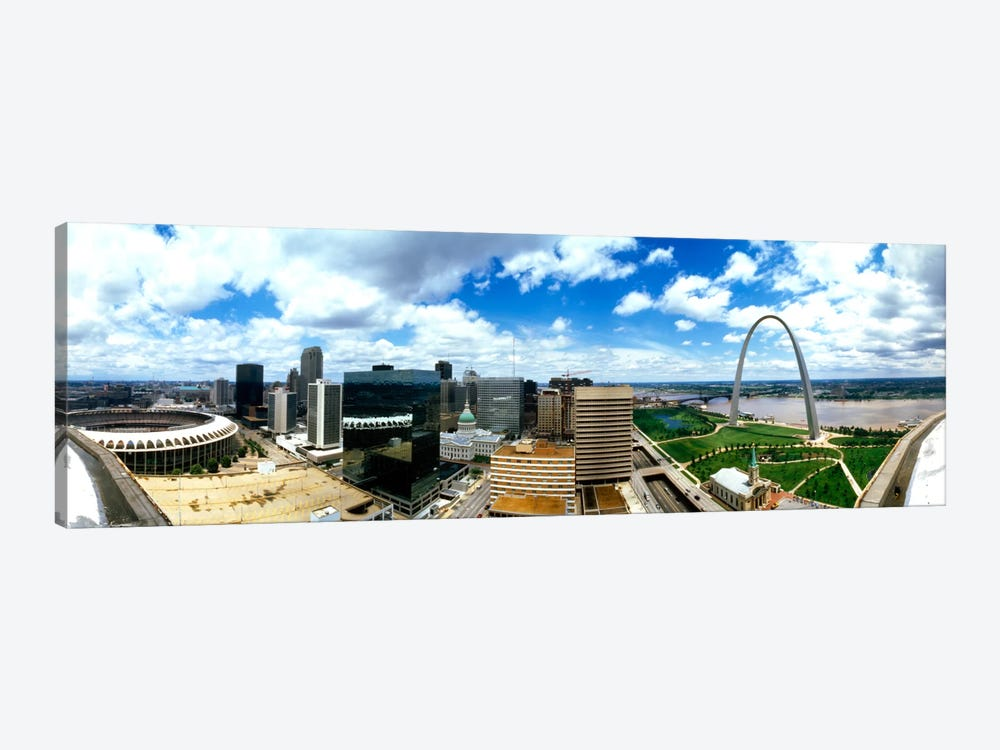 Buildings in a city, Gateway Arch, St. Louis, Missouri, USA by Panoramic Images 1-piece Canvas Art