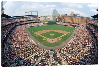 Aerial View, Oriole Park At Camden Yards, Baltimore, Maryland, USA Canvas Art Print