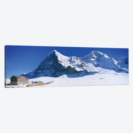 Eiger Monch Kleine Scheidegg Switzerland Canvas Print #PIM12228} by Panoramic Images Canvas Print