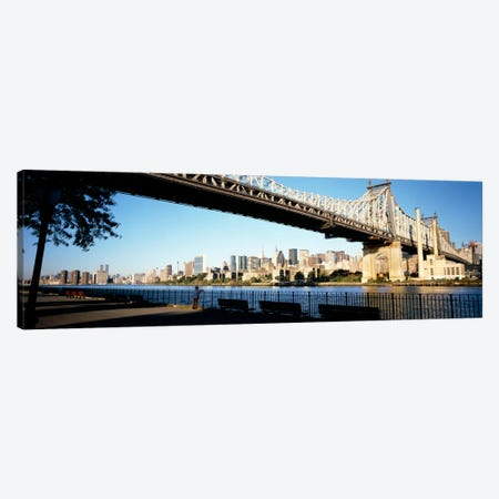 Bridge across a river, Queensboro Bridge, East River, Manhattan, New York City, New York State, USA Canvas Print #PIM1224} by Panoramic Images Canvas Art