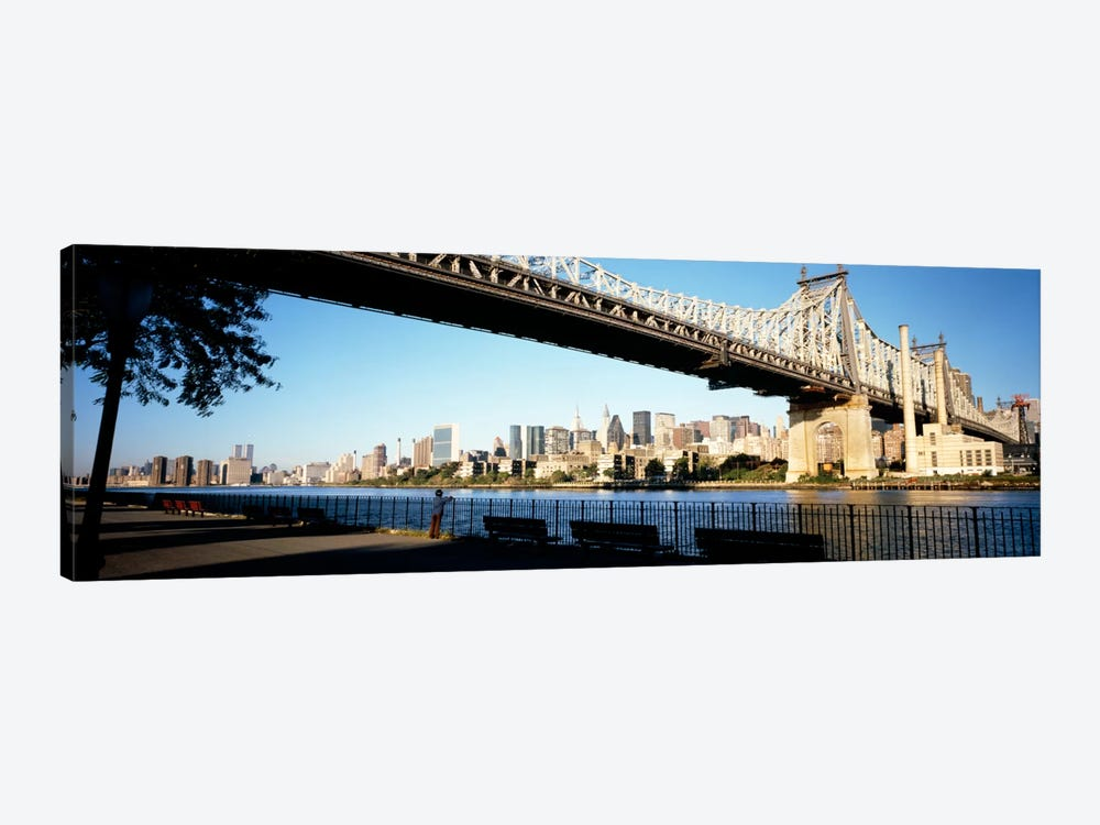 Bridge across a river, Queensboro Bridge, East River, Manhattan, New York City, New York State, USA by Panoramic Images 1-piece Canvas Print
