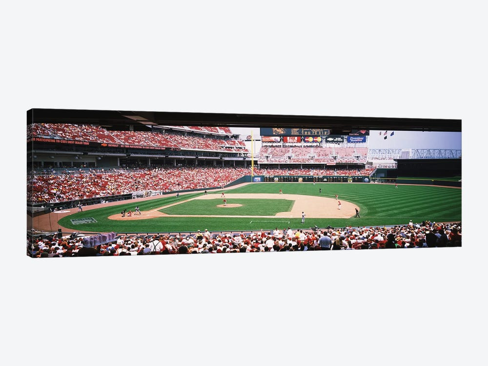 Great American Ballpark First Base Line Cincinnati OH by Panoramic Images 1-piece Canvas Artwork