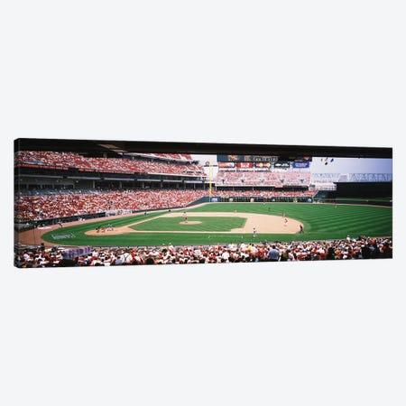 Great American Ballpark First Base Line Cincinnati OH Canvas Print #PIM12250} by Panoramic Images Canvas Art