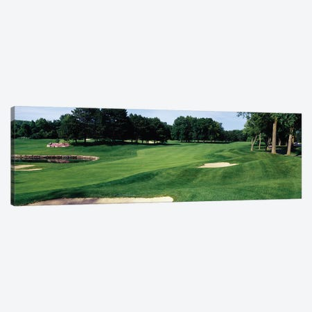 Trees in a golf course, Whirlpool Golf Course, Niagra Falls, Ontario, Canada Canvas Print #PIM12252} by Panoramic Images Canvas Wall Art