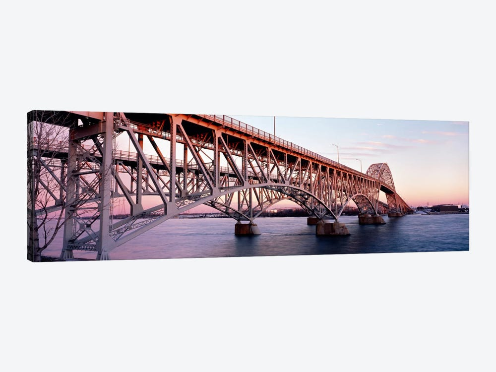 Bridge across a river, South Grand Island Bridge, Niagara River, Grand Island, Erie County, New York State, USA by Panoramic Images 1-piece Canvas Artwork