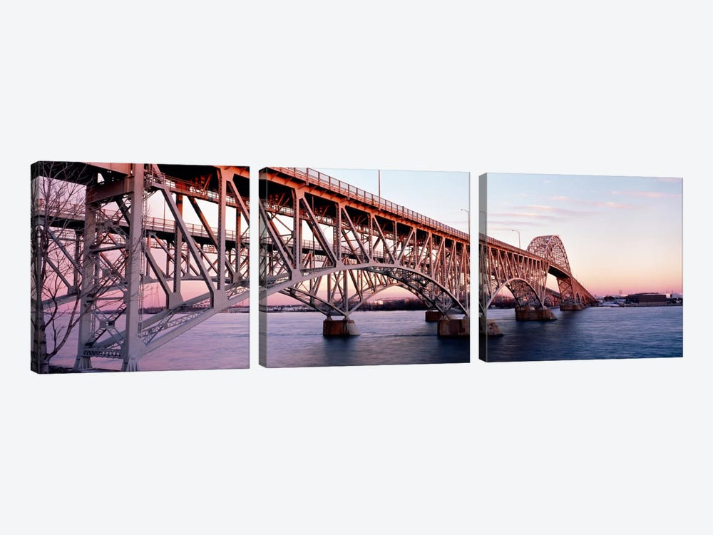 Bridge across a river, South Grand Island Bridge, Niagara River, Grand Island, Erie County, New York State, USA by Panoramic Images 3-piece Canvas Art