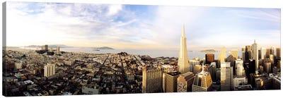 High angle view of a cityTransamerica Building, San Francisco, California, USA Canvas Print #PIM1226