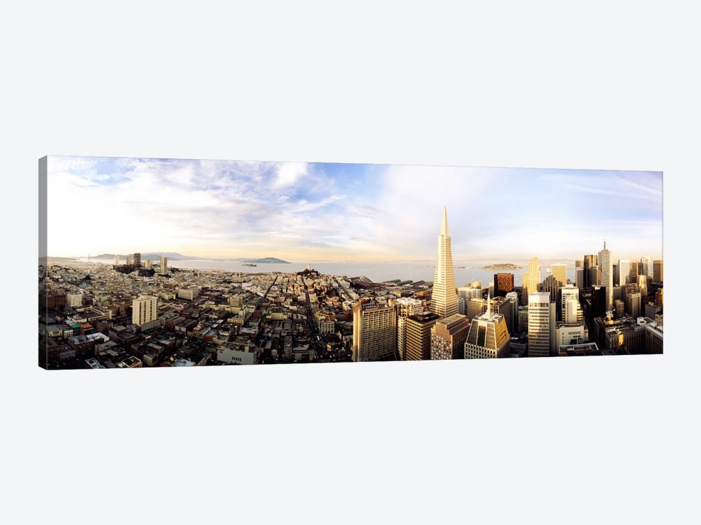 High angle view of a cityTransamerica Building, San Francisco, California, USA by Panoramic Images 1-piece Canvas Print