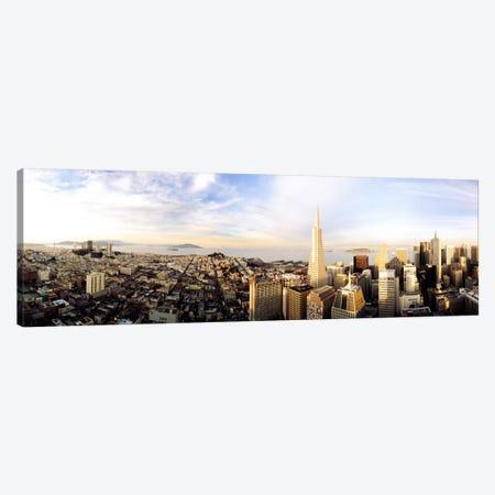 High angle view of a cityTransamerica Building, San Francisco, California, USA Canvas Print #PIM1226} by Panoramic Images Canvas Artwork