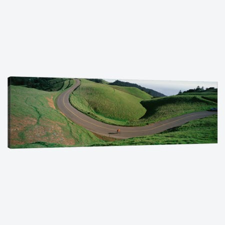 Lone Cyclist, Bolinas Ridge, Marin County, California, USA Canvas Print #PIM12272} by Panoramic Images Canvas Wall Art