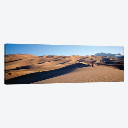Close up of Woman running in the desert, Great Sand Dunes National Monument, Colorado, USA Canvas Print #PIM12285} by Panoramic Images Canvas Wall Art