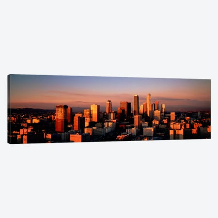 Skyline At Dusk, Los Angeles, California, USA Canvas Print #PIM1228} by Panoramic Images Canvas Print