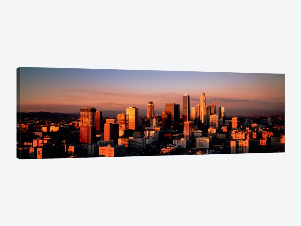 Skyline At Dusk, Los Angeles, California, USA by Panoramic Images 1-piece Canvas Art Print