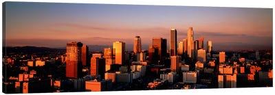 Skyline At Dusk, Los Angeles, California, USA Canvas Art Print