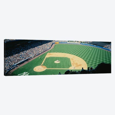 High angle view of spectators watching a baseball match in a stadium, Yankee Stadium, New York City, New York State, USA Canvas Print #PIM12291} by Panoramic Images Canvas Art