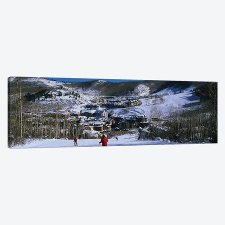 Skiers skiing, Beaver Creek Resort, Colorado, USA Canvas Print #PIM12301} by Panoramic Images Canvas Wall Art