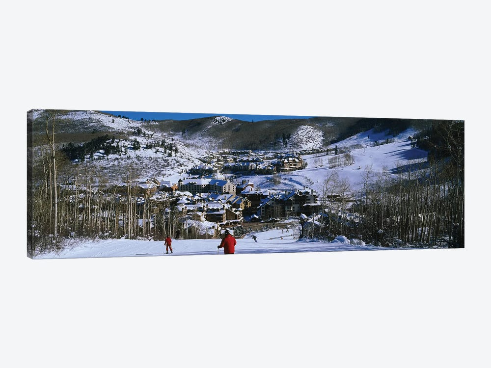 Skiers skiing, Beaver Creek Resort, Colorado, USA by Panoramic Images 1-piece Canvas Art Print