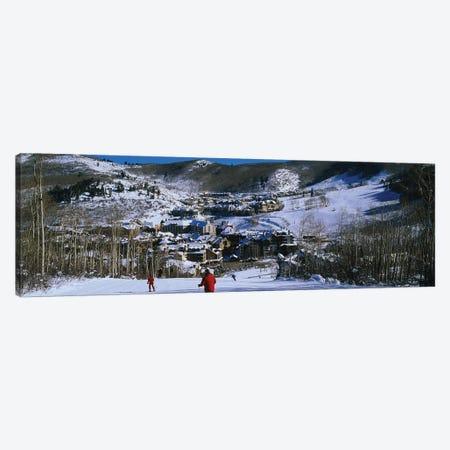 Skiers skiing, Beaver Creek Resort, Colorado, USA Canvas Print #PIM12301} by Panoramic Images Canvas Wall Art