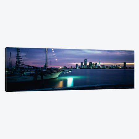 Sailboat in the sea, Miami, Miami-Dade County, Florida, USA Canvas Print #PIM1231} by Panoramic Images Canvas Art
