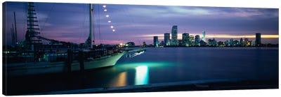 Sailboat in the sea, Miami, Miami-Dade County, Florida, USA Canvas Print #PIM1231