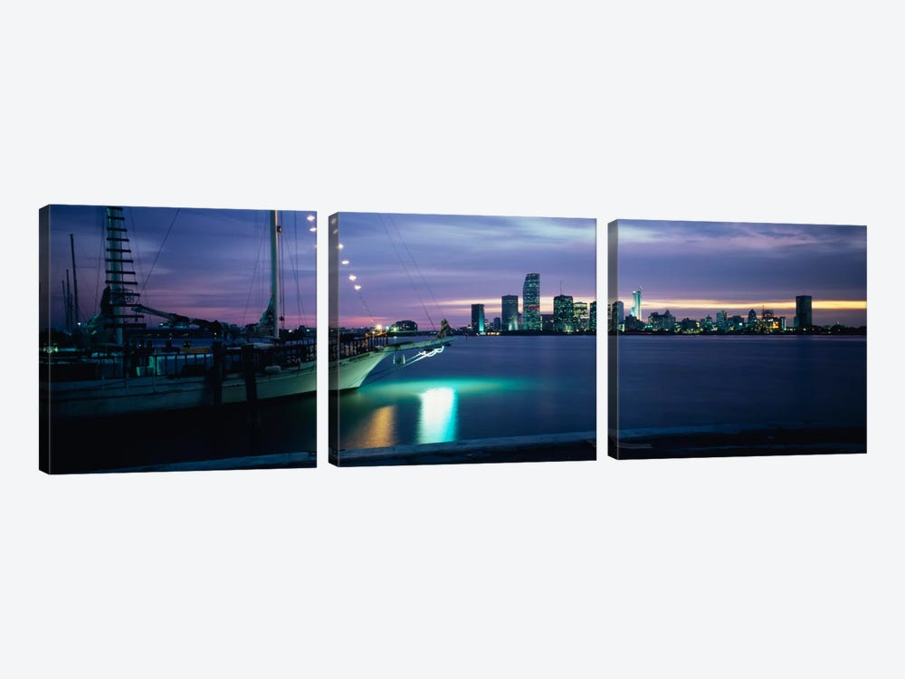 Sailboat in the sea, Miami, Miami-Dade County, Florida, USA by Panoramic Images 3-piece Art Print