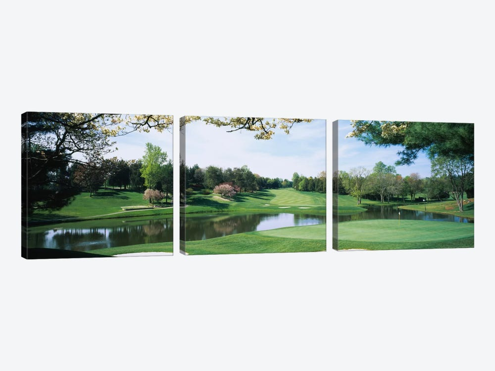 Lakeside Greens, Congressional Country Club, Bethesda, Maryland, USA by Panoramic Images 3-piece Canvas Art