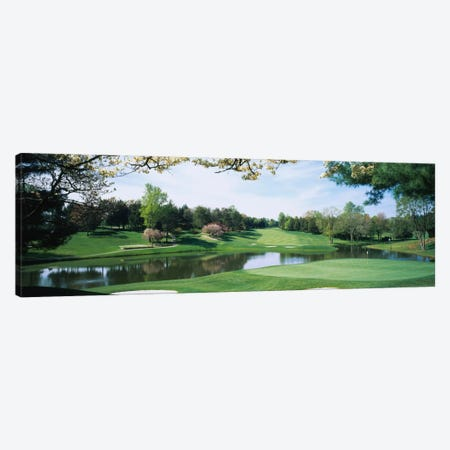 Lakeside Greens, Congressional Country Club, Bethesda, Maryland, USA Canvas Print #PIM12320} by Panoramic Images Canvas Artwork