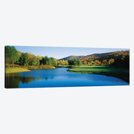 Lake on a golf course, The Raven Golf Club, Showshoe, West Virginia, USA Canvas Print #PIM12322} by Panoramic Images Canvas Wall Art