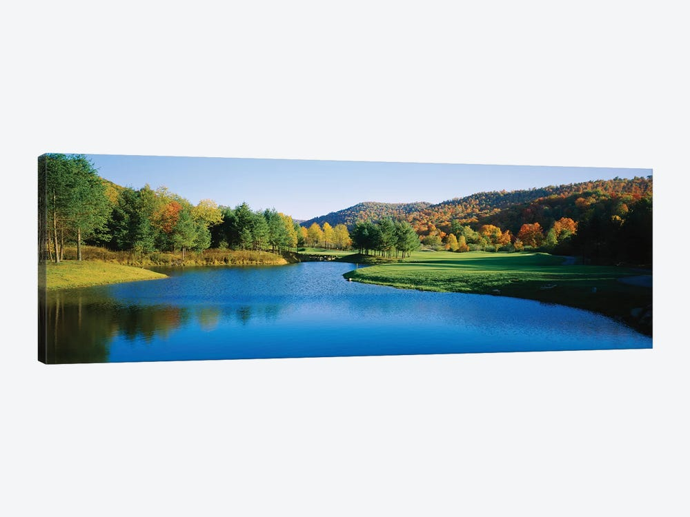 Lake on a golf course, The Raven Golf Club, Showshoe, West Virginia, USA by Panoramic Images 1-piece Canvas Wall Art