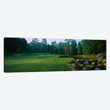 Creekside Hole, Laurel Valley Golf Club, Westmoreland County, Pennsylvania, USA Canvas Print #PIM12323} by Panoramic Images Canvas Artwork
