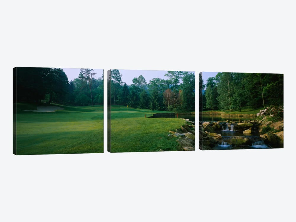 Creekside Hole, Laurel Valley Golf Club, Westmoreland County, Pennsylvania, USA by Panoramic Images 3-piece Canvas Art Print