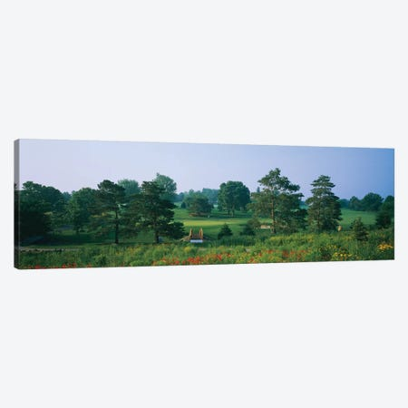 Trees on a golf course, Des Moines Golf And Country Club, Des Moines, Iowa, USA 3-Piece Canvas #PIM12329} by Panoramic Images Canvas Wall Art