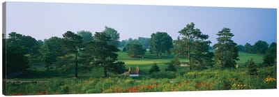 Trees on a golf course, Des Moines Golf And Country Club, Des Moines, Iowa, USA Canvas Art Print