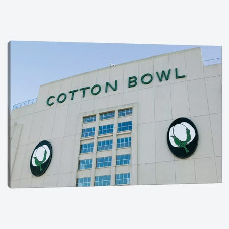 Low angle view of an American football stadium, Cotton Bowl Stadium, Fair Park, Dallas, Texas, USA Canvas Print #PIM12340} by Panoramic Images Canvas Artwork