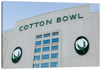 Low angle view of an American football stadium, Cotton Bowl Stadium, Fair Park, Dallas, Texas, USA Canvas Art Print