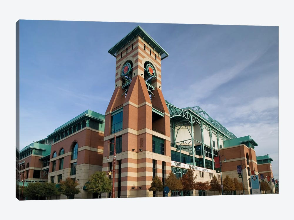 Low angle view of a building, Minute Maid Field, Houston, Texas, USA by Panoramic Images 1-piece Canvas Art