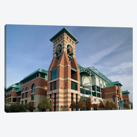 Low angle view of a building, Minute Maid Field, Houston, Texas, USA Canvas Print #PIM12346} by Panoramic Images Canvas Art Print