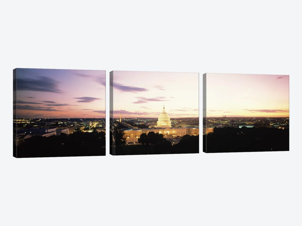 US Capitol Washington DC USA 3-piece Canvas Wall Art