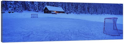 Makeshift Hockey Rink, Lake Louise, Alberta, Canada Canvas Print #PIM12350