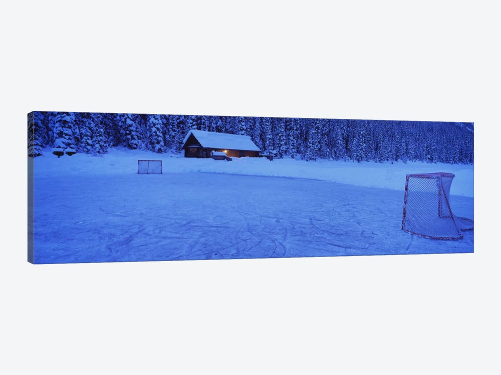 Makeshift Hockey Rink, Lake Louise, Alberta, Canada by Panoramic Images 1-piece Canvas Print