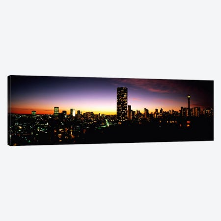 Downtown Skyline At Dusk, Johannesburg, Gauteng, South Africa Canvas Print #PIM1235} by Panoramic Images Canvas Print