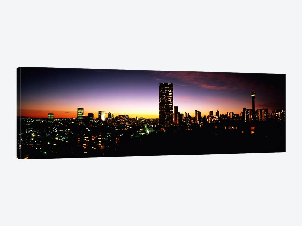 Downtown Skyline At Dusk, Johannesburg, Gauteng, South Africa by Panoramic Images 1-piece Art Print
