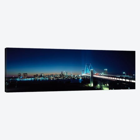 Bridge across a river, Delaware Memorial Bridge, Delaware River, Philadelphia, Philadelphia County, Pennsylvania, USA Canvas Print #PIM1236} by Panoramic Images Canvas Print