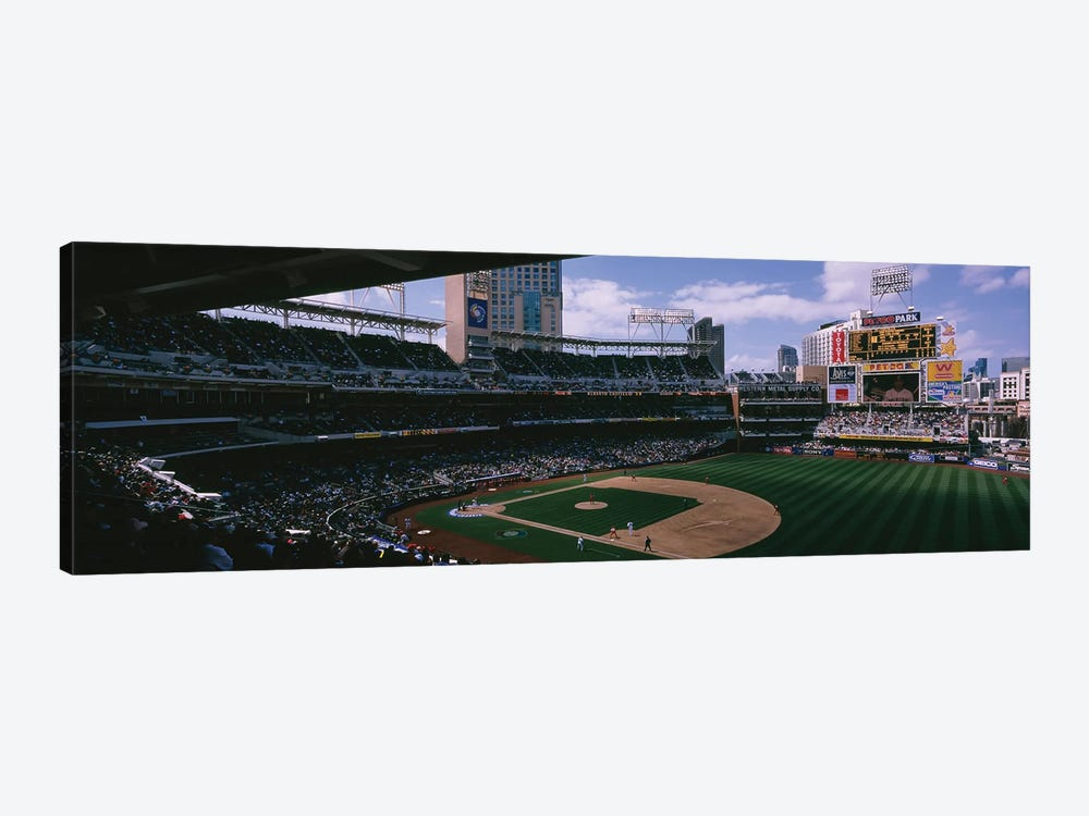 Cuba vs. Dominican Republic, World Baseball Classic, Petco Park, San Diego, California, USA by Panoramic Images 1-piece Canvas Art Print