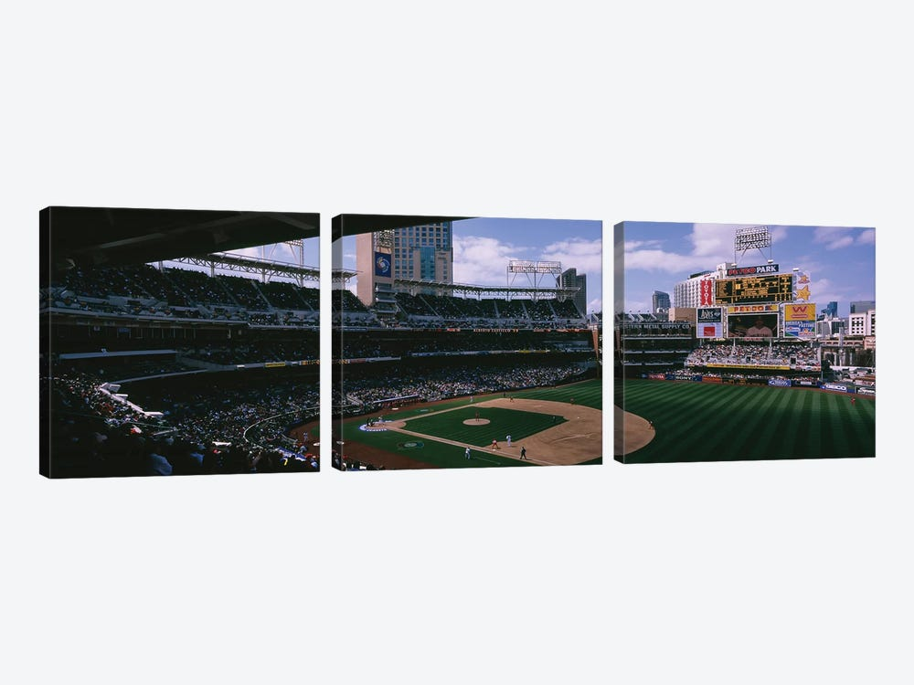 Cuba vs. Dominican Republic, World Baseball Classic, Petco Park, San Diego, California, USA by Panoramic Images 3-piece Canvas Art Print