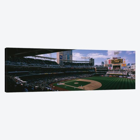 Cuba vs. Dominican Republic, World Baseball Classic, Petco Park, San Diego, California, USA 3-Piece Canvas #PIM12372} by Panoramic Images Canvas Print