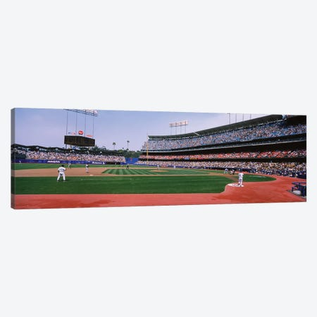 Dodgers vs. Yankees, Dodger Stadium, City of Los Angeles, California, USA Canvas Print #PIM12376} by Panoramic Images Canvas Artwork