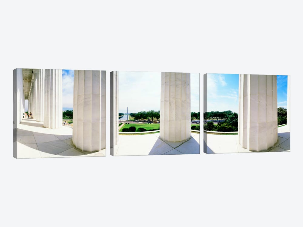 Lincoln Memorial Washington DC USA by Panoramic Images 3-piece Canvas Print